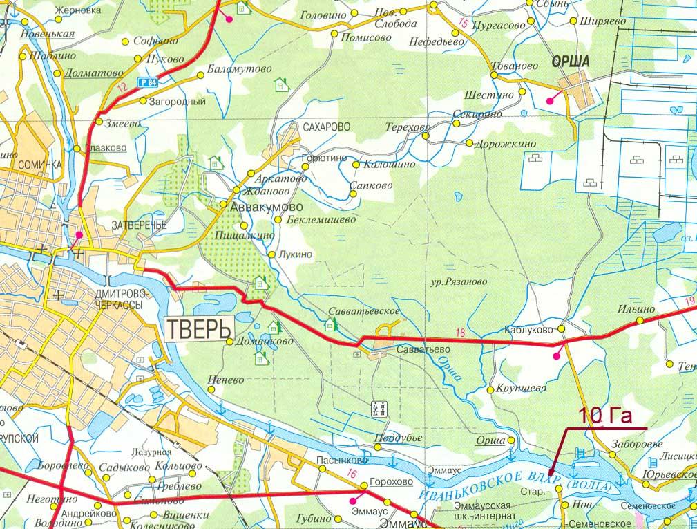 Земельный участок: 10 Га, Калининский район