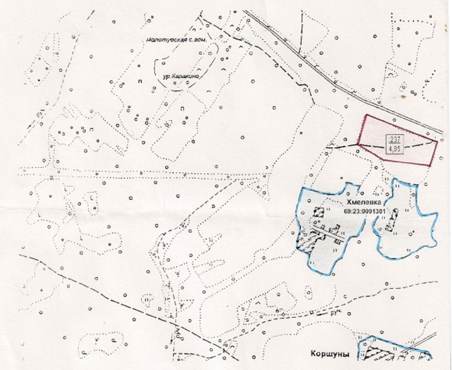 Земельный участок: 5 Га, Оленинский район