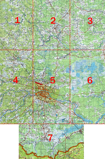 карта Тверской области