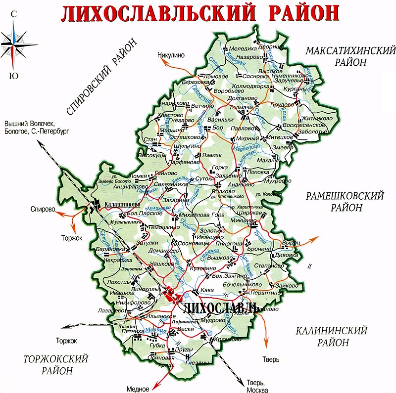 Карта-схема Лесного района